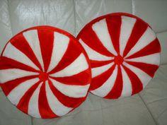 peppermint candy pillows