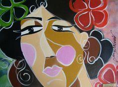 Obra da artista catarinense Glaucya Barão, professora de Pintura em Tela!