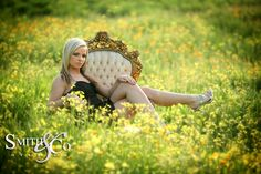senior poses -love the chair outside