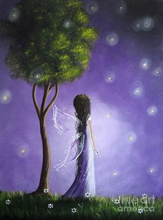 Title: Fairy Art Artist: Shawna Erback Medium: Painting - Acrylic On Canvas