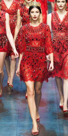 Dolce & Gabbana, Fall 2013, Milan via InStyle