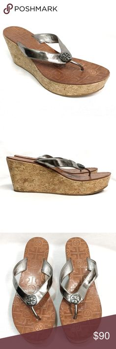 "Tory Burch ""Thora"" Wedge Tory Burch ""Thora"" Wedge in Pewter. Features"