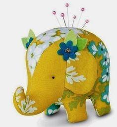 Molde de elefante de tela : cositasconmesh