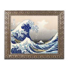 The Great Kanagawa Wave by Katsushika Hokusai Framed Painting Print