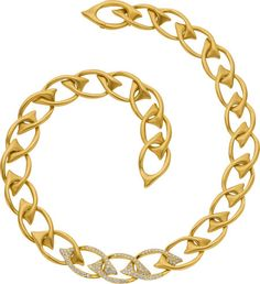 Angela Cummings Diamond, Gold Necklace