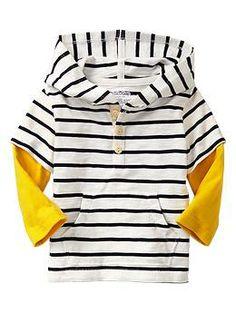 2-in-1 striped hoodie T   Gap