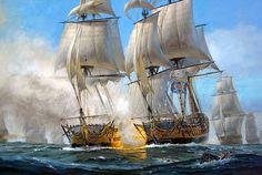 Patrick O'Brien. Battle of the Chesapeake. J. Russell Jinishian Gallery, Inc.
