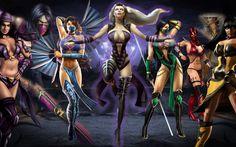 Li Mei, mileena, Kitana, Swindel, Jade, Scarlet, Ashra, Tanya