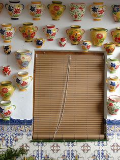 | ♕ |  Pottery shop in Frigiliana - Malaga, Spain  | by © Lui G. Marín.  http://www.costatropicalevents.com/en/costa-tropical-events/andalusia/welcome.html