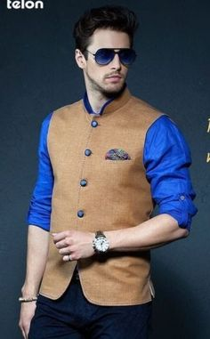 MEN-WEDDING-PARTY-WEAR-INDIAN-ETHNIC-CUSTOM-MDE-DESIGNER-NEHRU-JACKET-WAIST-COAT
