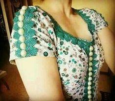 Chudi Neck Designs, Sleeve Designs, Blouse Designs, Batik Dress, Dress With Cardigan, High Fashion, Womens Fashion, Hijab Outfit, Fashion Sewing