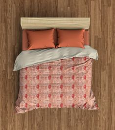 Tribal Marks Duvet Cover  Red/Coral  Free Shipping