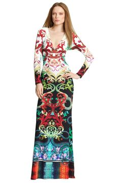 This Emilio Pucci Indian Totem Long Sleeve Knit Silk Dress is soft that will bring you a good feeling of touch. The beautiful print will make you look much elegance whenever you wear it. Cheap price Emilio Pucci can be got from our store.