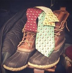 Duck boots and bow ties