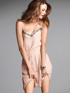 Embellished Knife-pleat Dress --- Hi, yeah, will someone please buy me this it's only $78 please omg