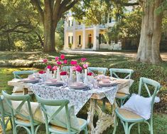 Outdoor Spaces, Outdoor Living, Outdoor Decor, Southern Ladies, Southern Charm, Romantic Table, Spanish Moss, Seasons Of The Year, Garden Spaces