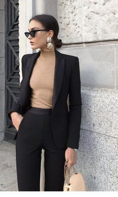 Office Look Blazer Work Outfits Office Outfits Women, Business Casual Outfits, Classy Outfits, Trendy Outfits, Fashion Outfits, Work Outfits, Classy Dress, Business Attire, Business Chic