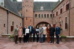 Nog één keer was de club in oude vorm bij elkaar. Zaterdag ontvingen prins Willem-Alexander en prinses Máxima hun Europese collega's in Apeldoorn. Foto RVD