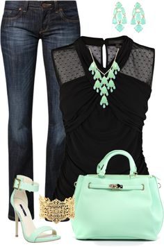 Mint and Black