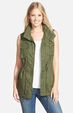 Pleione Cotton Twill Military Vest (Regular & Petite) available at…
