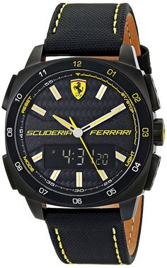 Ferrari Men's 0830170 Aero Evo Analog-Digital Display Black Watch