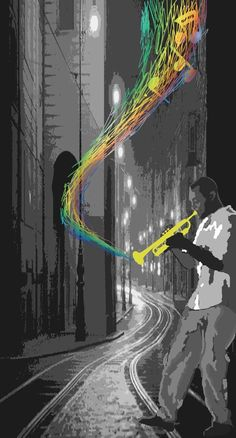 Jazz...love and music...two things that bring colour to a black and white day.