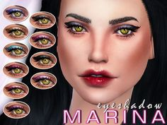 The Sims Resource: Marina's Eyeshadow by SenpaiSimmer • Sims 4 Downloads