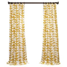 Half Price Drapes Triad Twill Semi-Opaque Single Curtain Panel 69/panel