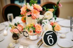 bold table numbers and florals | CHECK OUT MORE IDEAS AT WEDDINGPINS.NET | #wedding