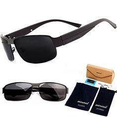e43f4b4090b5 marscool Sports Polarized Sunglasses For Men Driver Golf Fishing Metal  Frame     For more information