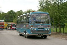 Iconic British coach of the the Bedford VAL. Bedford Buses, The Bedford, Bus Coach, London Transport, Classic Motors, Busses, Commercial Vehicle, Coaches, Nostalgia
