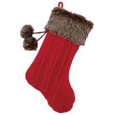 Sled Ride Stocking in Red
