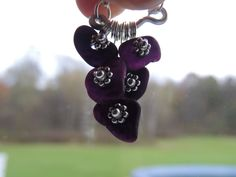 Genuine Lake Erie Black Amethyst Beach Glass Necklace by MermaidTidesSeaGlass on Etsy