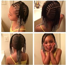 Awesome cornrows with beads for natural hair littlw girls Awesome cornrows with beads for natural ha Little Girl Braid Styles, Kid Braid Styles, Little Girl Braids, Black Girl Braids, Braids For Kids, Girls Braids, Kid Braids, Cornrows Kids, Kids Braids With Beads