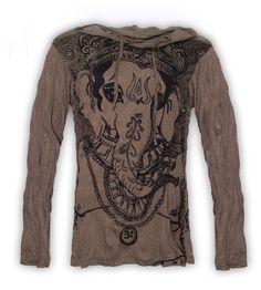 Kunst und Magie Sure Hoody Kapu T-Shirt Ganescha  im Hippie Look – Bild 1  22,90€
