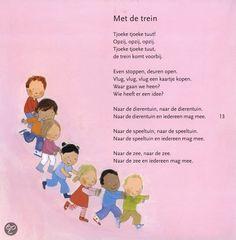 """Treinen: versje of liedje op het wijsje van """"We maken een kringetje voor jongens en voor meisjes"""" :)"""
