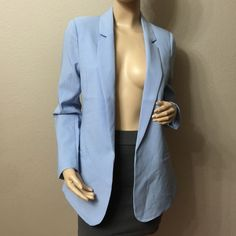 Sky Blue Cute Blazer NWOT Perfect blazer for work, really cute  55% cotton 42% polyester 3% spandex IAM Jackets & Coats Blazers