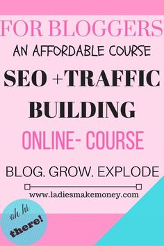Grow your blog traffic using SEO. Want to make money online, get more eyes on your blog by utilizing our traffic building bootcamp online course.