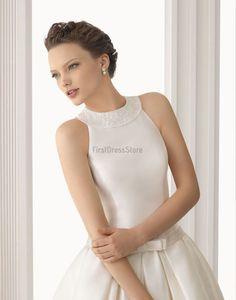 Floor-length Ball Gown Princess High Neck Wedding Dress