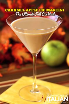 Caramel Apple Pie Martini and a Fall Party - There is nothing like planning a party with custom cocktails. With just a handful of ingredients you can enjoy your own autumn celebration complete with a Fall Cocktail Bar!