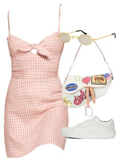 """Untitled"" by thecharminchaos ❤ liked on Polyvore featuring Christian Dior, Roberi & Fraud and Vans"