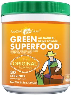 Amazing Grass Green SuperFood Powder, I've been on it for a wk and I feel such a difference, this is a lifer for me!