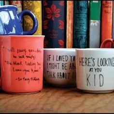 Literary quote mugs!!