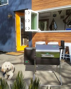 A Tiny House needs a Tiny Smoker! We're so excited to start grilling season early with the little Davy Crockett smoker from @greenmountaingrills - it's a WiFi enabled smoker that you can control with an app on your phone. The small size will make it easy for us to store and being that it is lightweight we can bring it with us camping and offroading or even a day at the beach. It can run on 12v or 120ac so we can bring it practically anywhere. This is our very first smoker and can't wait to…
