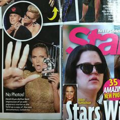 Heidi Klum doing her best anti-paparazzi in this week's Star Magazine! Star Magazine, Heidi Klum, S Star, Kardashian, Documentaries, Celebrities, Movie Posters, Celebs, Film Poster