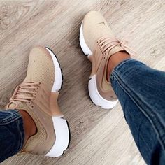 cheaper 483a7 562fb Brown Shoes Modest Street Shoes Chaussure Nike Presto, Looks Com Tenis,  Running