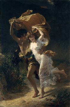 The Storm - Pierre-Auguste Cot - 1880 – óleo sobre tela - 234.3 cm × 156.8 cm - Metropolitan Museum of Art, New York
