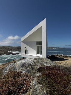 The Desk at the Edge of the World Artist Studio -  Fogo Island, Newfoundland, Canada by Norway-based architect Todd Saunders