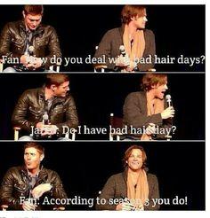 I love Jared's hair!!