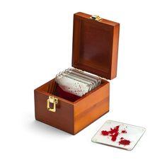 Blood Spattered Coaster Set » So very Dexter.